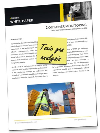 White Paper on the assessment of hazardous gases in freight containers