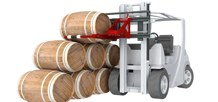 KAUP Cask Handler attachment has revolutionised the way casks are handled.