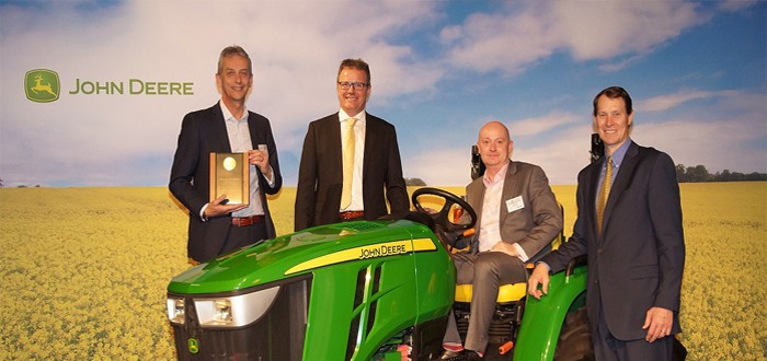 Carousel recognised by John Deere for achieving excellence.