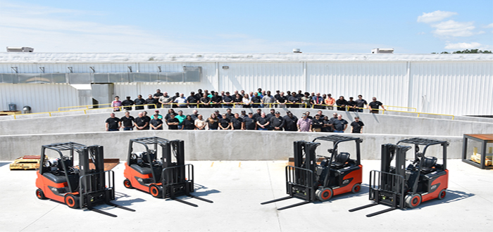 KION North America Celebrates Start of Production on New Forklifts .