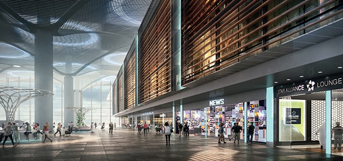 "Istanbul's New Airport at the centre of the ""aerial"" Silk Road."