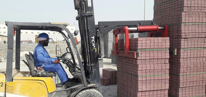 B&B Attachments provide Handling Solutions to Emirates Concrete Manufacturer .