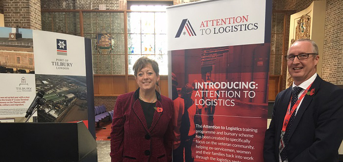 Innovative training scheme and bursary for veterans and their families launched at The Port of Tilbury.