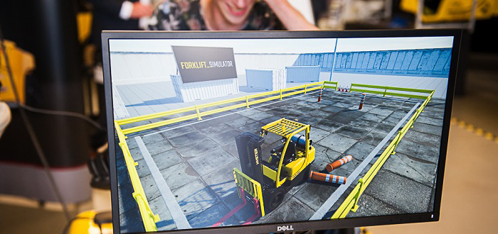 TRAINING AND FORKLIFT SIMULATION. A MATCH MADE IN… THE WAREHOUSE?