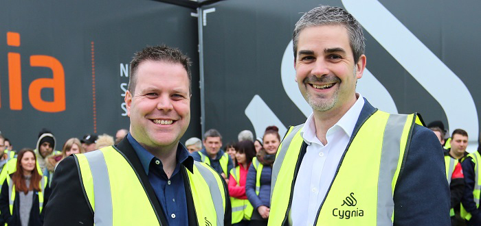 Cygnia Logistics promotes new brand at eDelivery Expo.