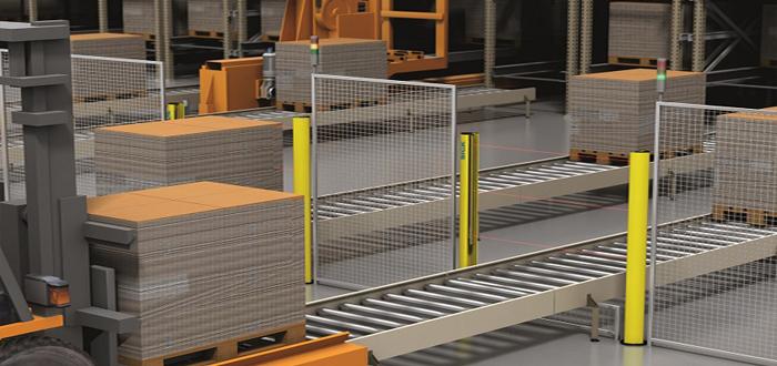Multi-beam light curtains safeguard the area surrounding hazardous machinery.