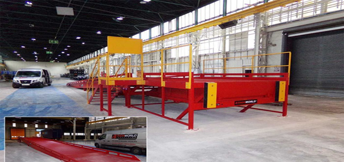 Thorworld's 'Big Thinking' design delivers solution capable of handling GKN Wheels' loading bay gradient.