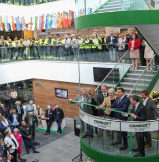 Official opening of Combilift's new €50 million global headquarters and manufacturing facility.