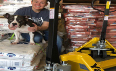 Yale Donates Pallet Truck to Pet Food Charity.