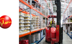 New 'Quad' mast means Flexis can speed up the ISO container pallet loading process.