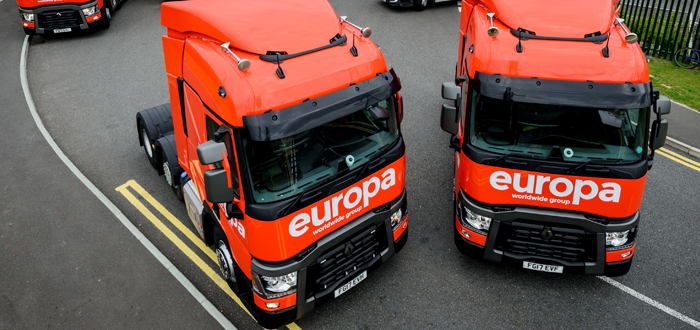 Europa Worldwide Group Selects Paragon To Streamline Route Planning And Maximise Use Of Resources.