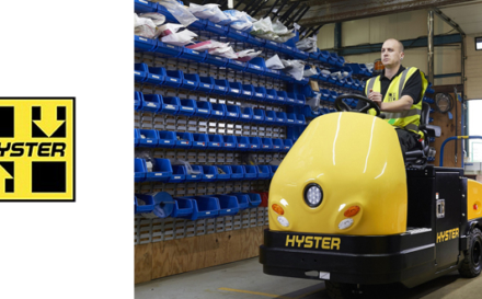 New Hyster® Rider Tow Tractor Supports Automotive Industry Productivity.