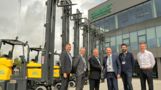 100th Aisle Master Articulated Forklift For Eddie Stobart.