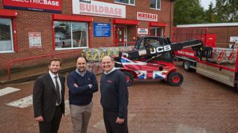 Buildbase support Royal British Legion with Union Jack Teletruk.