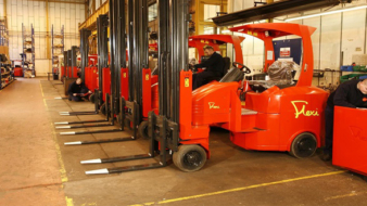 Open day guests are among the first to see a 'tour de force' in articulated lift truck technology