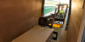 The risk of a delivery van's floor suffering significant and costly damage during the loading process can be eliminated