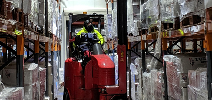Lithium-ion-powered Flexi trucks boost cold store's efficiency