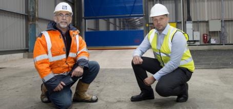 Union Industries supplies and installs rugged Ramdoor roller doors to Yara UK Ltd warehouse facility