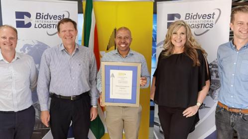 Bidvest International Logistics wins PMR Diamond Award for Third Consecutive Year